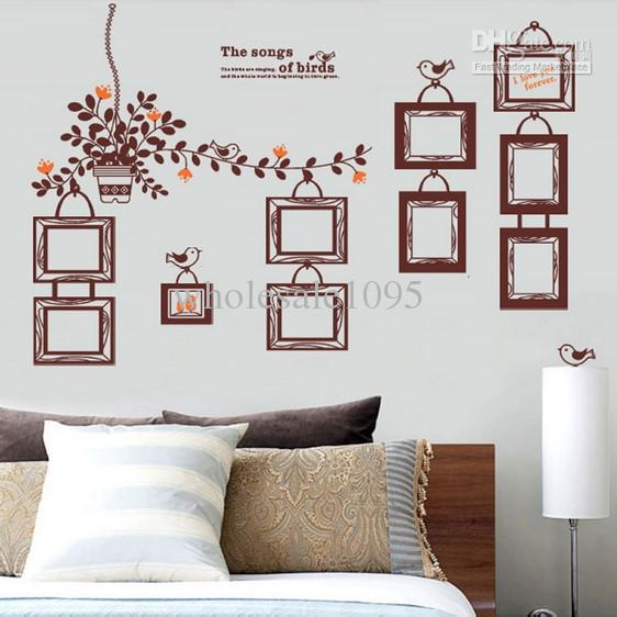 europe brown photo wall stickersflower vine 10 frame wall decor wall art cheap wall decals cheap wall decals for kids from wholesale1095 5202 dhgate