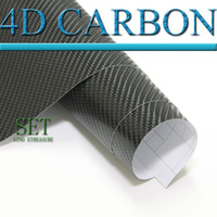 Wholesale D carbon fiber vinyl wrap film car sticker x30m thickness mm air free bubbles Black
