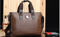 Wholesale Businessman Briefcase Shoulder Tote Bag PU Leather Coffee New Arrival B19