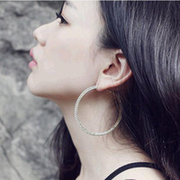 Wholesale Cost price and retail Hoop Earrings CM spot diameter circle earrings fashion platinum pla