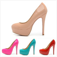 bianca ladies fashion - 2016 New Bianca Almond Toe Platform Pump Woman Shoes Fashion ladies high heels platform pump