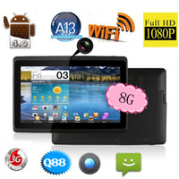 Wholesale Q88 quot Inch Tablet PC Dual Camera Android Allwinner A13 Capacitive Touch Screen MB GB WIFI IRULU Tablet Computer
