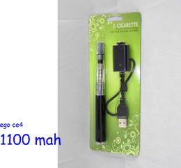 Ego blister ce4 seul paquet en Ligne-Date kit blister ego ce4 avec batterie batterie de 1100mAh ego ego unique Blister 100pcs