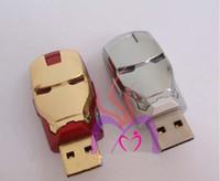 8gb flash drive - Hot selling Avengers Iron Man LED Flash GB GB GB GB GB USB Flash Memory Drive Stick Pen Pen drive thumbdrive with LED eye light