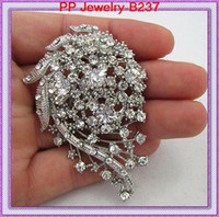 Wholesale High Quality Clear Crystal Wedding Bridal Bouquet Pin Brooch B237 Women Corsage Jewelry