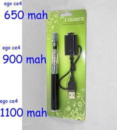 Ego blister ce4 seul paquet en Ligne-200pcs par lot Fashion NOUVEAU EGO CE4 BLISTER seule tige 1,6 ml atomiseur cigarette électronique 650mAh 900mAh 1100mah