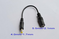 Wholesale 200pcs DC Power Jack x2 mm Female to x1 mm Male Plug Cable plug adapter