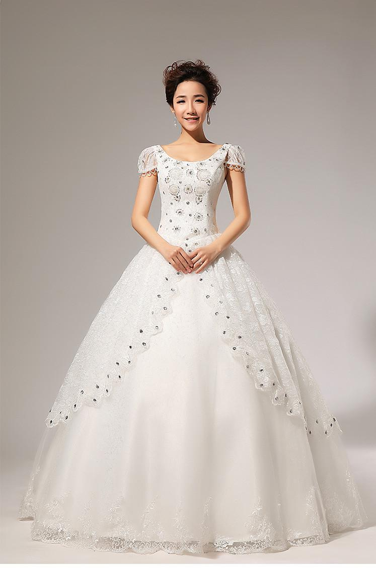 Turmec » ball gown wedding dresses with short sleeves