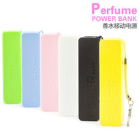 for mp3, mp4 for mobile phone, mp3, mp4... Direct Chargers 2600ma Mini Portable Perfume Power Bank Banks Emergency external battery USB Charger for Iphone 5s 4s galaxy S4 s3 all mobile phones