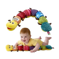 Wholesale Hot Lovely Musical Carpenterworm Infant Toys Baby Doll Toy Short Plush Educational Toys