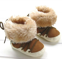Wholesale Baby Soft Soled Shoes Kids Fur Boots Fashion Casual Shoes Baby First Walker Shoes Toddler Footwear Infant Winter Boots First Walking Shoes