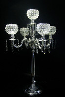 Wholesale crystal candelabras candelabrum crystal Candle Holder wedding Party decoration