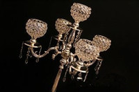 Wholesale crystal candelabras candelabrum crystal Candle Holder wedding decoration