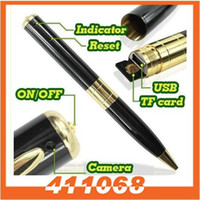 Wholesale mini spy pen camera with fps spy camcorder pen with AVI black color Spy Pen Camera Hidden Camera from coolcity2012