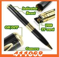 None   Mini DV Pen Spy Video Hidden Spy Camera Recorder support max 16GB TF MicroSD 10PC Lot