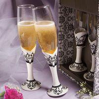 champagne flutes - Distinctive Damask Porcelain Collection Champagne flutes