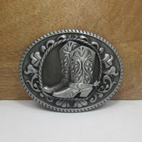 western belt buckles - Western belt buckle with pewter finish FP with continous stock