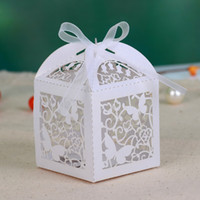 Wholesale Buterfly Hollow out Wedding laser Favor Box