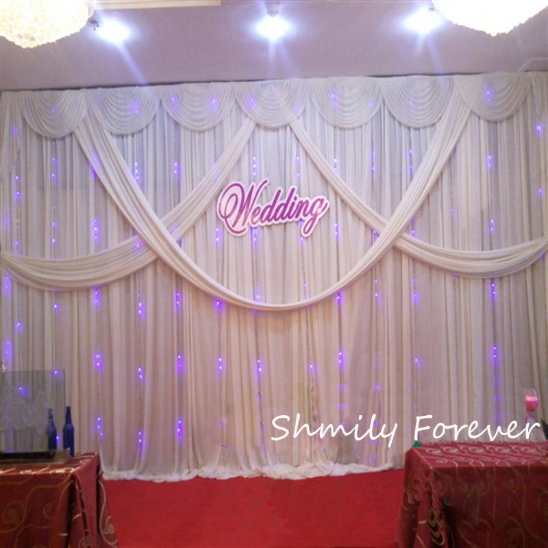 New arrival 3x6m 10ft by 20ft custom made wedding backdrop for Background curtain decoration