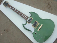 Solid Body 6 Strings Mahogany left handed SG electric guitar,metal green guitar,double cut way