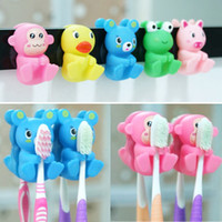 Wholesale lovely Suction cup toothbrush holder Fashion cartoon toothbrush holder card