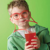 Multicolor amazing silly straw - 20PCS Novelty items Amazing Silly Straw Drinking Glasses Eyeglass Frames Piped lovely toys