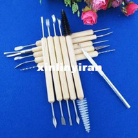 Hand Tool Parts China (Mainland)  11pcs Wax Pottery Clay Soap Carving Modeling Tool Kit Wood SCULPTING DIY Craft[010204]