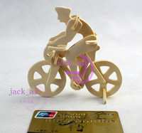 Wholesale Road Racing D Puzzles Wooden Jigsaw Woodcraft Bike Simulation Model Educational Toys