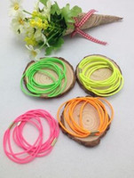 Wholesale 100pcs Fluorescent Color Three Layer Band Buckle Hair Rope Diy Jewelry Accessories Rubber Band Hair Circle