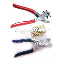 Wholesale Revolving Card Leather Belt Hole Punch Puncher Eyelet Setter Plier Tool Kit