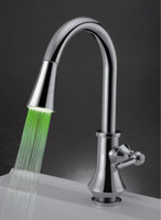 Wholesale New LED Kitchen Sink amp Bathroom basin Mixer Tap Color Chrome Faucet JN8080