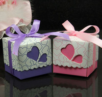 Wholesale Popular Model Wedding favors Candy box EMS Heart design favor box