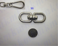 Wholesale rigging marine hardware stainless steel M6 double eye and eye regular G402 chain swivel