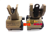 Wholesale Troy Industries Rear Battle Back Up Iron Sight Black Folding Piece Pack tan