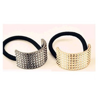 Wholesale Unique Golden black DIY Semi circle Metallic Hair Ring Fashion Accessories Hairdress