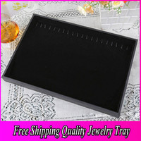 Wholesale High Quality Jewelry Display Tray Necklace Jewelry Case Bracelet Jewelry Display Tray Black Fashion Cheap Jewelry Case