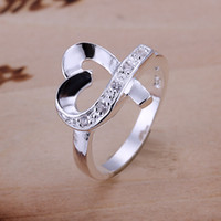 Wholesale sterling silver Ring Gift Box Women mens r036 Fashion jewelry rings