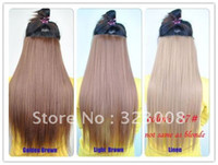 other other other Wholesale Free Shipping 7 Colors U-pick New Women Long Straight Onepiece Clip in Hair Extensions Accessories Hairpiece