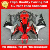 Wholesale Free gifts injection fairing kit for Honda CBR RR CBR600RR CBR RR F5 fairings G9k red silver motorcycle bodywork