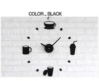 Wholesale funlife Stylish Coffee Time Cafe Break Wall Stickers Clock acrylic mute Funny Home Decoration for Kitchen amp RestaurantWC1002