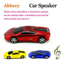 Wholesale DHL Shipping Lamborghini Car Model Mini Speaker Portable DIGITAL Stereo Speakers TF USB FM Radio for iPhone iPod Samsung Galaxy S4 MP3 MP4