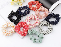 Wholesale Hair Jewelry Lovely Candy Color Cloth Pony tail Holder Rubber Hair Band Rope for Gilr Lady