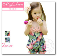 1-5T Girl Summer Summer Girls Kids Bohemia Style Fruits Floral Printed Tulle Overalls Suspender Pants Trousers Sun Beach children one piece Jumpsuit 1101