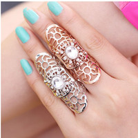 Wholesale Fashion Crystal Joint Ring Designer Jewelry personality Finger Rings LM R063