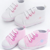 (3-4M) 10 yards Girl Cotton 30%off 3pairs 6pcs Pure color canvas shoes casual strap cheap shoes shoes sale toddler shoes baby wear china shoes hot j