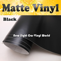 vinyl for car wrapping - High Quality Matte Black Vinyl Wrap Matt Black Wrap Film Air Free Bubble For Car Wrapping Size m Roll