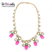 Wholesale 2013 summer buy two get one free Artilady fashion colorful crystal statement necklace brand insect design summer necklace