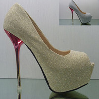 Wholesale Drop Shipping hot selling lady s Sexy High Heels Peep Toe sweetness High Heels Pumps Weddings sandals Eur Size