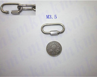 Wholesale M3 high tensile AISI304 stainless steel quick release chain link snap hook rigging hardware