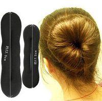 Wholesale Black Sponge Bun Clip Maker Former Foam Twist Hair Tool Hair Accessory Size Available